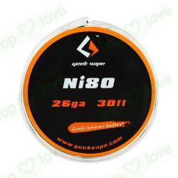 10m GeekVape Ni80 26GA (0.40mm)