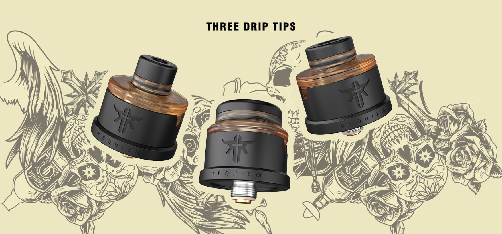 3 x Drip Tips
